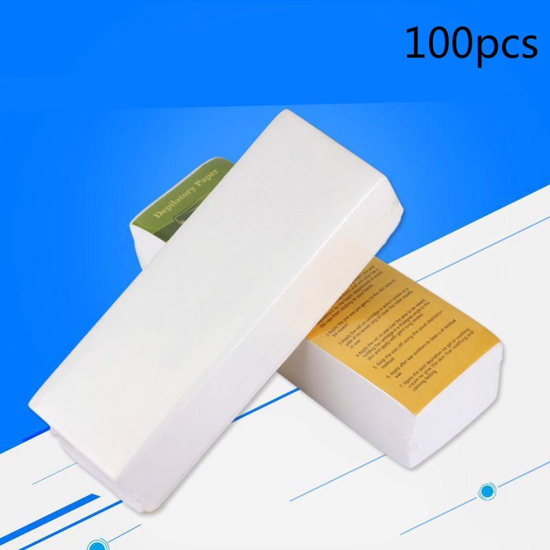 100PCS/Pack Removal Nonwoven Body Cloth Hair Remove Wax Paper Rolls High Quality Hair Removal Epilator Wax Strip Paper Roll