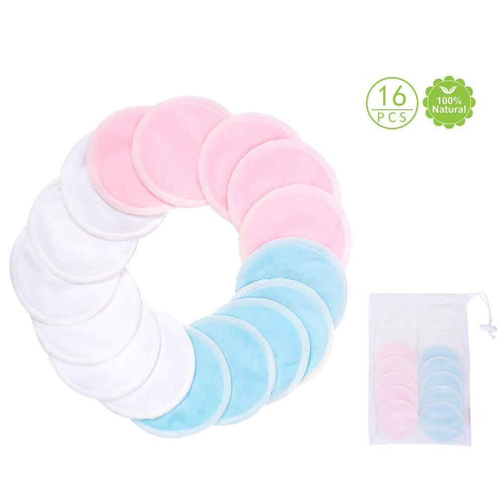 17Pcs/lot Makeup Removal Cotton Pad Bamboo Fiber Washable Rounds Pads For Face Eye Reusable Breast
