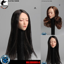 SUPER DUCK SDH009 1/6 Scale Asian Beauty Sleep Head Sculpt Carving A/C for 12inch Phicen Verycool Jiaoudoll Action Figure DIY(China)