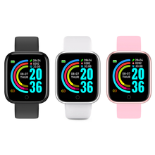 Smart Watch 2020 2021 Y68 D20 Fitness Bracelet Heart Rate Monitor Blood Pressure Bluetooth Watch for Apple Android Phone Watch