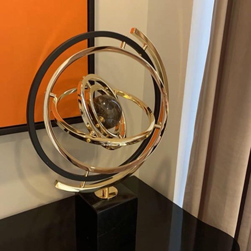3D солнечная система мраморный материал глобусы свет роскошный сменный Глобус Миниатюрная модель домашний офис орнамент лучшие подарки для друзей - 5