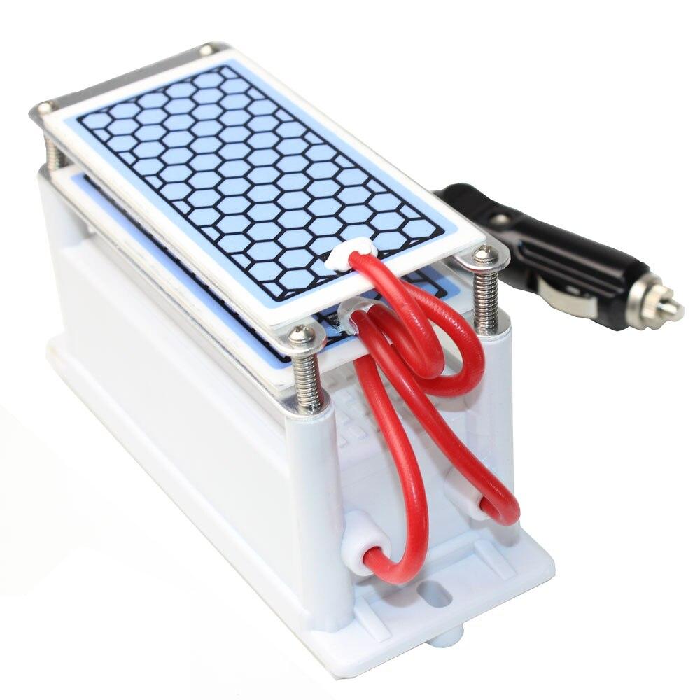 Alanchi Portable Ozone Generator Car Air Sterilizer 12v 10G Ceramic Plate Freed Ozone Sterilization And  Odor Removal Purifier
