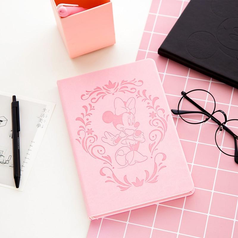 Disney A5 Cartoon Notebook Mickey Minnie Cute Notebook Student School Supplies Journal Writing Painting Supplies