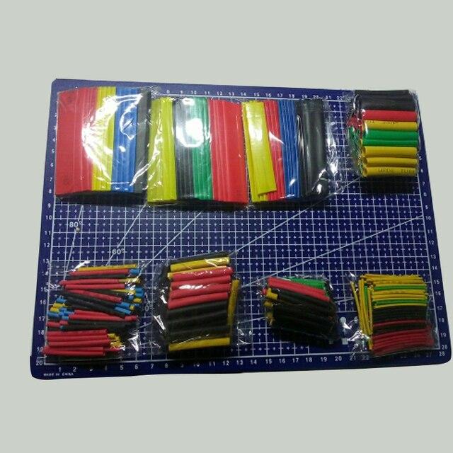 164 sztuk/pudło rurka termokurczliwa zestaw kurczący różne poliolefinowe rękawy izolacyjne przewód termokurczliwy kabel 8 rozmiary 2:1 s