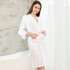 Image 2 - Taglie forti Kimono da donna accappatoio indumenti da notte lunghi Waffle sposa damigella donore abito da sposa camicia da notte Sexy Lady Solid Nightwear