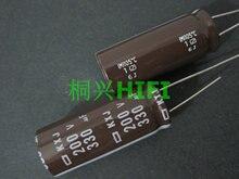 10 pièces nouveau NIPPON KXJ 200v330uf 16x40MM NCC condensateur électrolytique 330UF 200V CHEMI CON 330 uf/200 v kxj