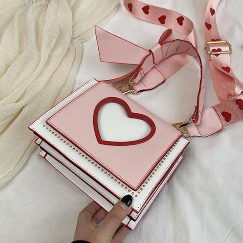 Luxury Handbag 2020 Fashion New High Quality PU Leather Women's Designer Handbag Sweet Girl Bow Tote Shoulder Messenger Bags