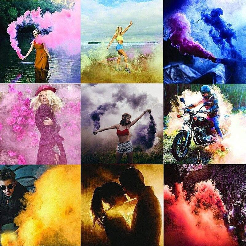 Colorful Smoke Magic Tricks Smoke Cake Props Fire Tips Fun Toy Pills Color Fog For Magician Show Photography Portable Supplies