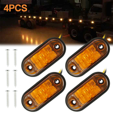 4pcs 12V / 24V LED Side Light Car Exterior Lights Warning Taillights Trailer Professional Auto Parts Amber and White