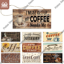Putuo Decor Coffee Wooden Hanging Signs Decorative Plaques Door Wooden Plaque In Home Decor Cafe Kitchen Hanging Home Decor