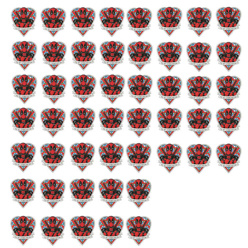 1-50 Uds Marvel adhesivo de deadpool pegatina para maleta personalidad portátil Trolley caso monopatín pegatina para guitarra etiqueta engomada impermeable