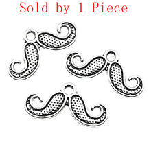 Retail Display 1 Piece 19x10mm Moustache Beard Charms Pendant Necklace Jewelry Crafts(China)