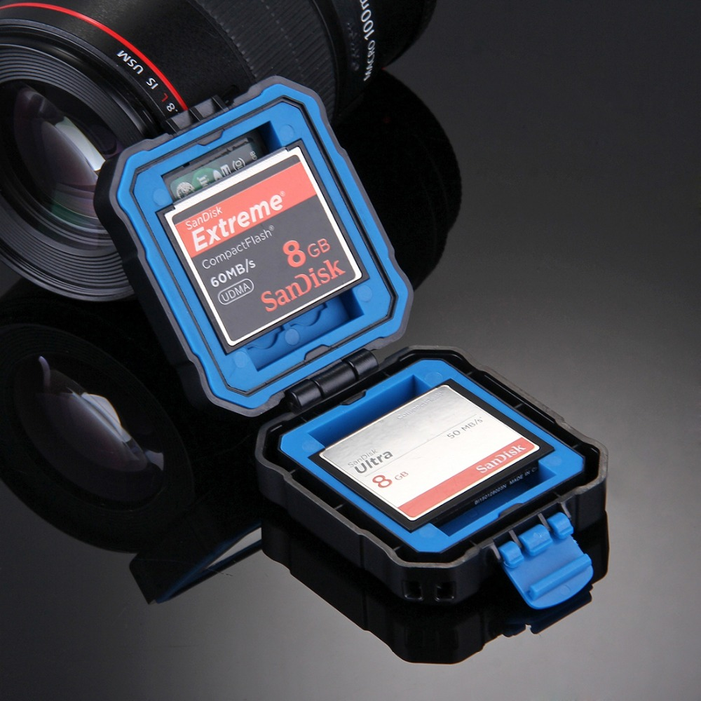Puluz 11 In 1 Micro SD CF Memory Card Case Box Storage Waterproof Holder Protector For 3 SIM + 2 XQD + 2 CF + 2 TF + 2 SD Card