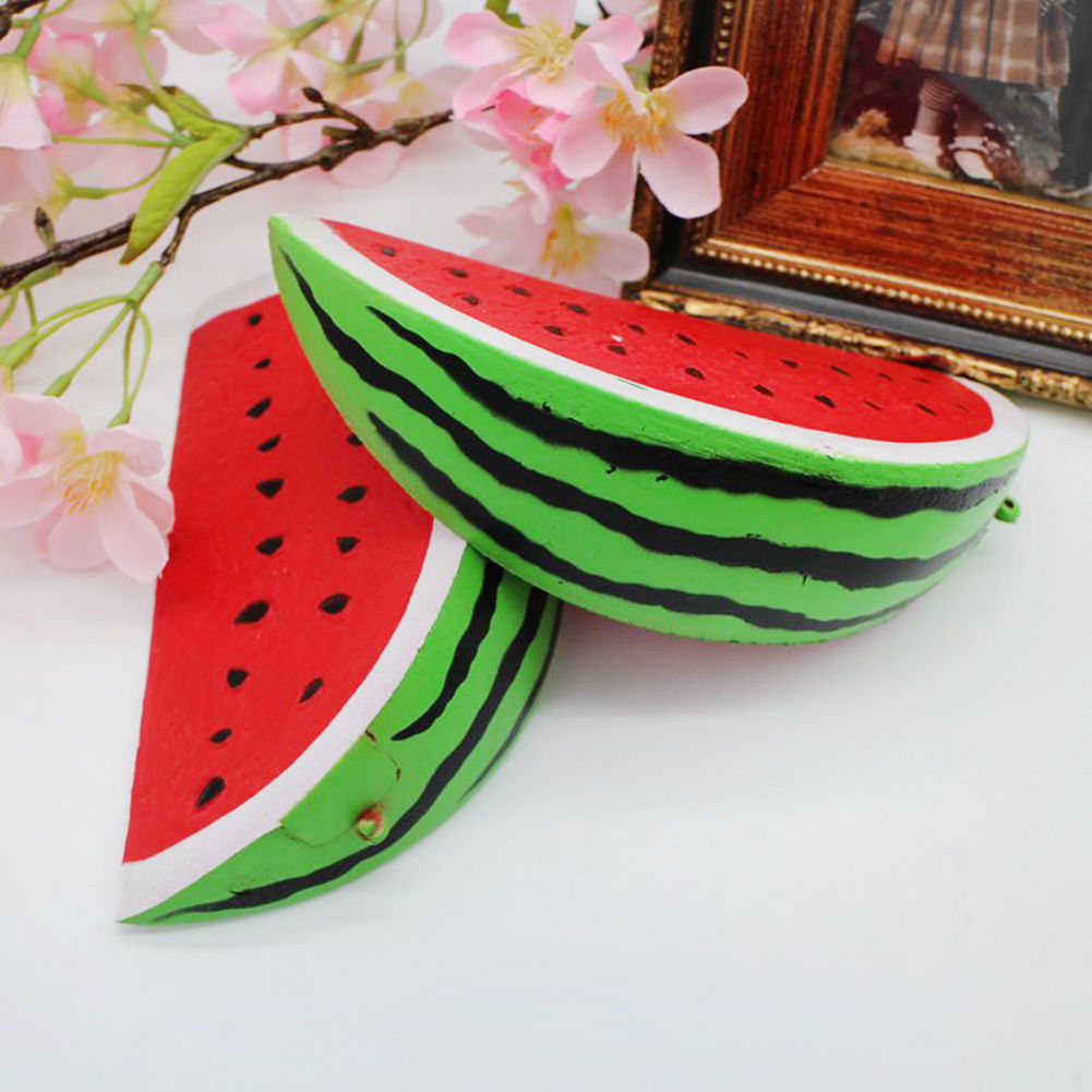 18cm Slow Rising Squishy Jumbo Watermelon Fruit Scented Bread Squeeze Toy Decor