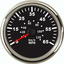 85mm Speedometer Boat Yacht Pitot Tube Pressure Signal Speed Meter Gauge 0 65MPH 0 120KM/H 9 32V