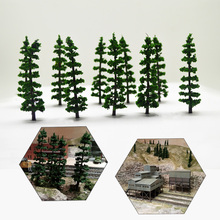 30PCS 9cm Model Green Tree Toys ABS Architecture Plastic Sandtable Miniature Trees For Diorama Wargame Scenery Making