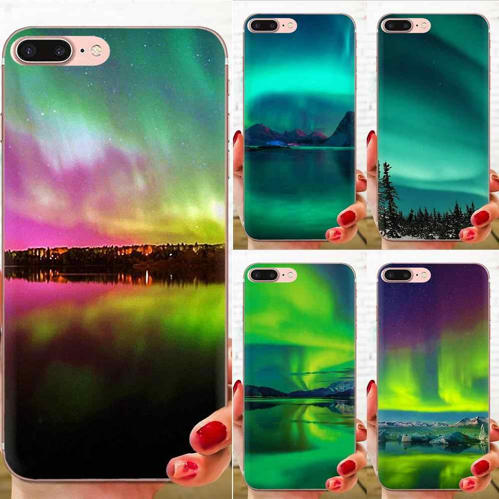 Мягкий прозрачный чехол для Apple iPhone 4 4s 5 5C 5S SE 6 6S 7 8 11 Plus Pro X XS Max XR Green Iceland