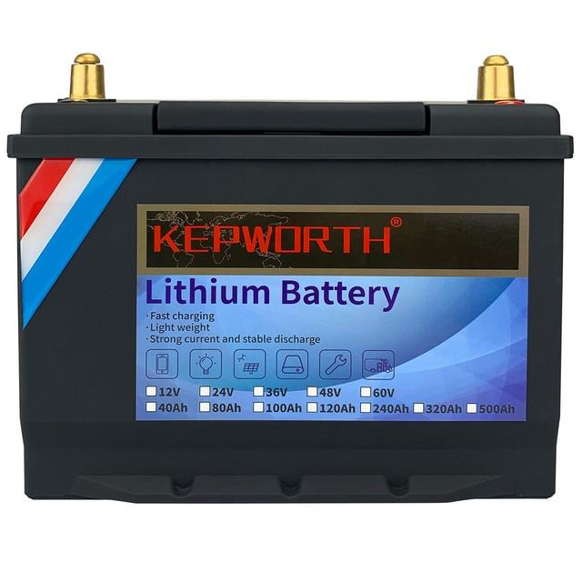 12V 24V 48V 60V LiFePO4 Lithium Iron Phosphate Battery With BMS 40 80 100 120 240 320Ah For Golf cart EV RV Solar Energy Storage