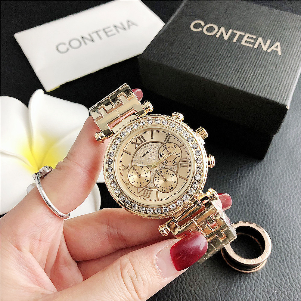 6758DSJ     New Fashion Small Dial Watch Three Eyes Ladies Factory Direct Sales