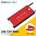 Deligreen 24S 25A 35A 45A 60A 48V PCM/PCB/BMS для аккумуляторной батареи 3 2 V LiFePO4 с функцией баланса защита от короткого замыкания
