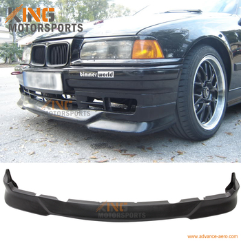 Fit For 1992 1993 1994 1995 1996 1997 1998 BMW E36 3 Series M Tech Style Front Bumper Lip Unpainted - Urethane image