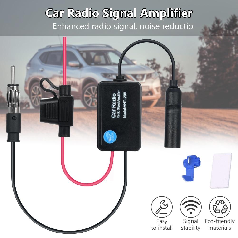 Car Stereo 80-108MHz FM&AM Radio Antenna Aerial Signal Amp Signal Amplifier Universal Auto Car Radio FM Antenna Signal Booster