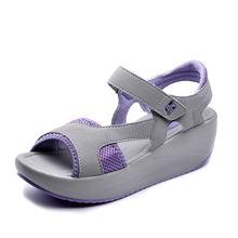 Женские повседневные сандалии на толстой подошве дышащие с открытым