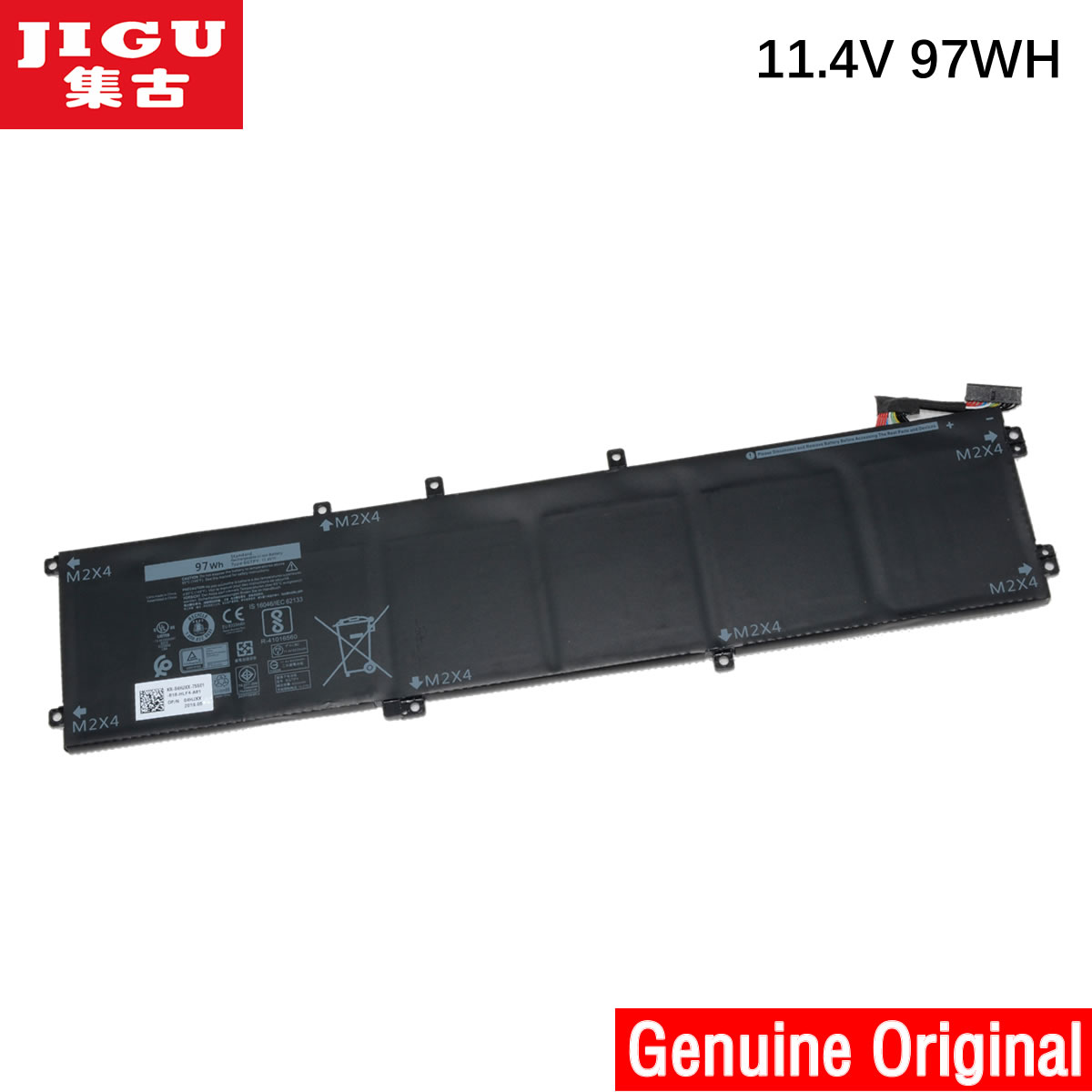 JIGU 11.1V 97WH Original 6GTPY 5XJ28 Laptop Battery For Dell Precision 5510 XPS 15 9550 9560 6GTPY 5XJ28 Laptop Tablet BATTERY image