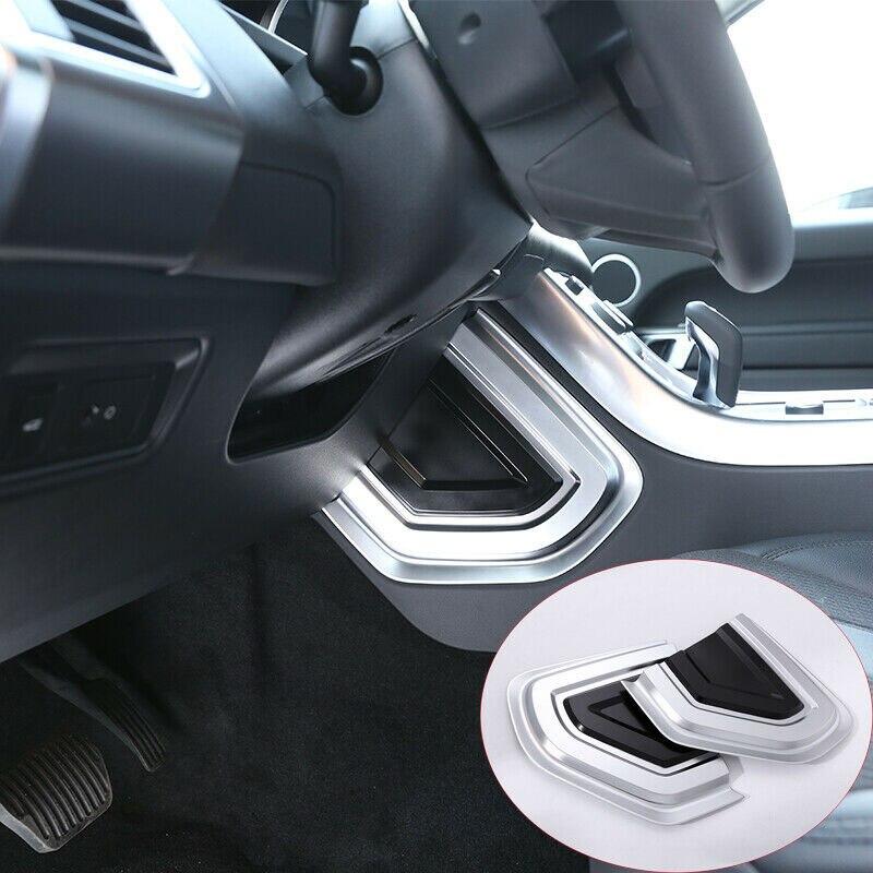 Noir et argent 1 paire côté U forme panneau couverture garniture pour Land Rover Range Rover Sport 2014-2019