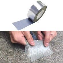 Bande adhésive en caoutchouc butyle imperméable, pour réparation de tuyaux de toit, pour arrêter les fuites, résistance adhésive, haute température, feuille d'aluminium