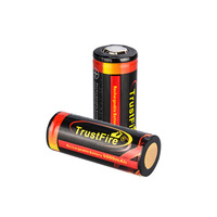 100% high quality TrustFire colorful 3.7V 5000mAh 26650 rechargeable lithium battery protected with PCB for torch flashlight