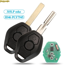Jingyuqin Remote Car Key 315/315LP mhz ID46 PCF7953 Chip CAS2 System For BMW 3 5 7 Series