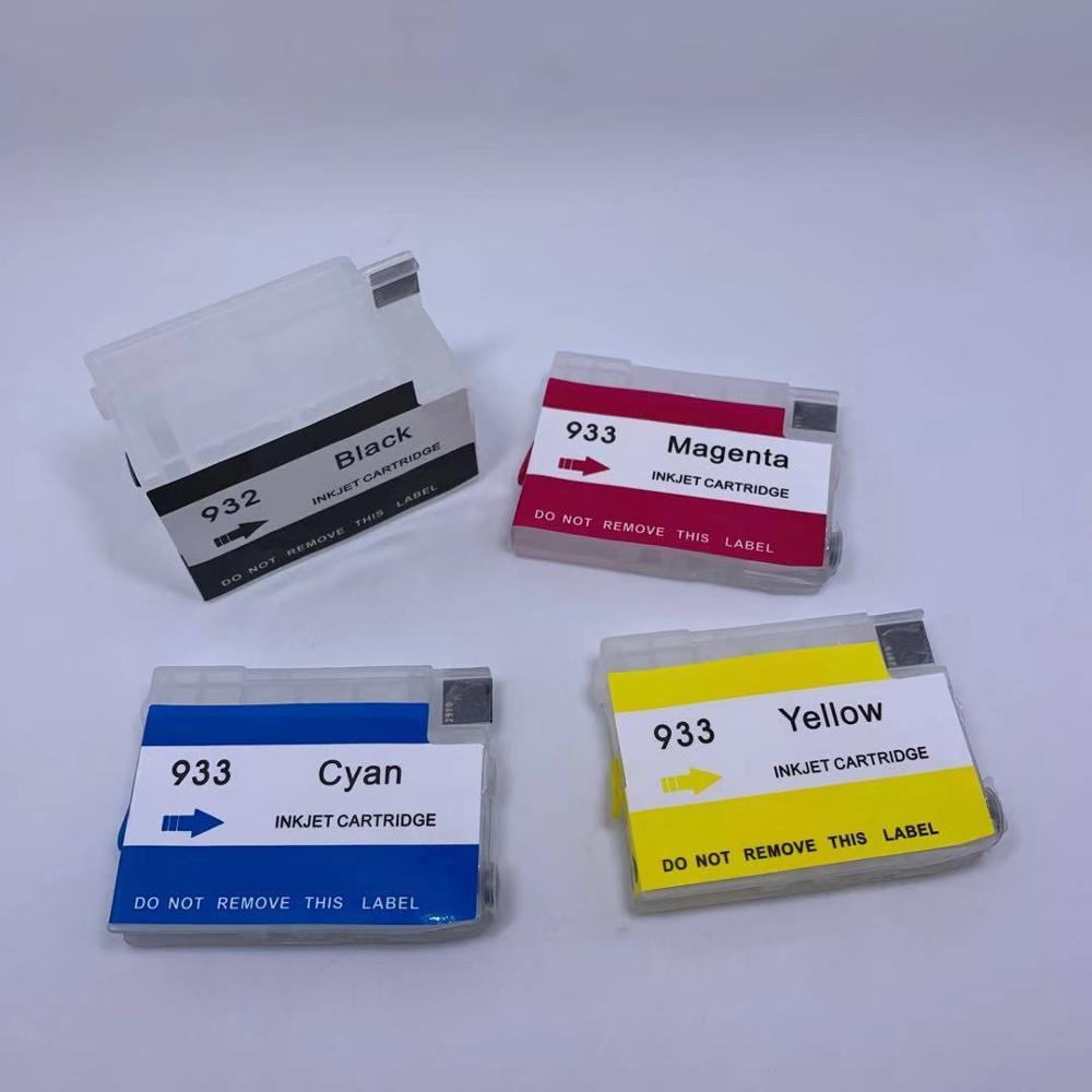 Refillable Kit INK cartridge for HP 932 933 Officejet Pro 6600 6700 7610 7612
