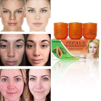 Papaya Whitening Creams Set Moisturizing Dilute Freckles Lightening Pigment Face Whitening Essence day+night cream+pearl cream недорого