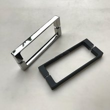 Solid full precision casting 304 stainless steel shower room handle bathroom glass door handle(SJ-1046)