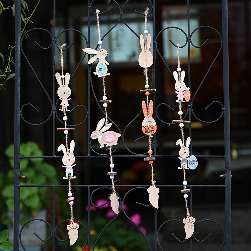 Новые деревянные пасхальные украшения «сделай сам», яйца, кролик, птица, подвесные украшения, пасхальные украшения для дома, пасхальные товары