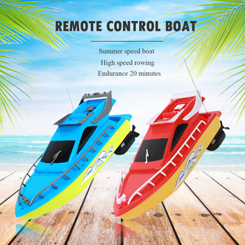 RC Boat Kids Toy Super Mini Speed Remote Control Ship 2 Colors 20M High Performance Electric Boats Toys For Children Barco Gifts 1