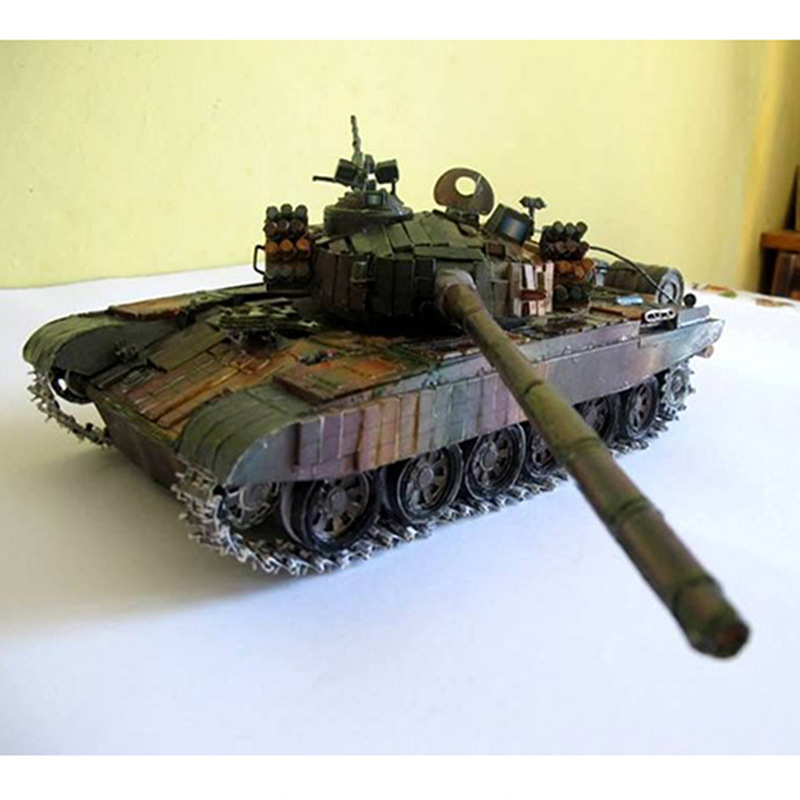 1:25 Polish PT-91 Main Battle Tank DIY 3D Paper Card Model Building Sets Construction Toys Educational Toys Military Model