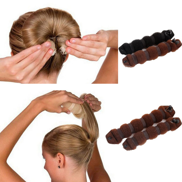 1 Set Women Girl Magic Style Hair Styling Tools Buns Braiders Curling Headwear Hair Rope Hair Band Accessories 1