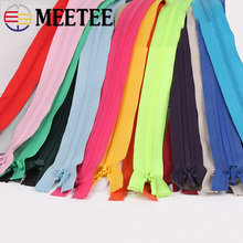 Meetee 2/5pcs 70cm Single Open-End Zipper 3# Resin Zip for Down Jacket Zippers DIY Textile Clothing Sewing Repair Accessories