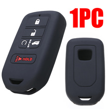 For Honda Civic Accord CR-V Pilot HR-V 2019 1pc 5 Button Silicone Remote Key Case Car Styling Fob Shell Cover Protector