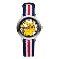 Mode Cartoon Niedlichen Stil kinder Uhren Kinder Student Mädchen Jungen Quarz Nylon Strap Armbanduhr JA171