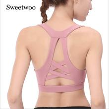 2019 New Sports Bras For Women Cross Back Bra High Impact Yoga Running Breathable Fitness Athletic Gym Tops