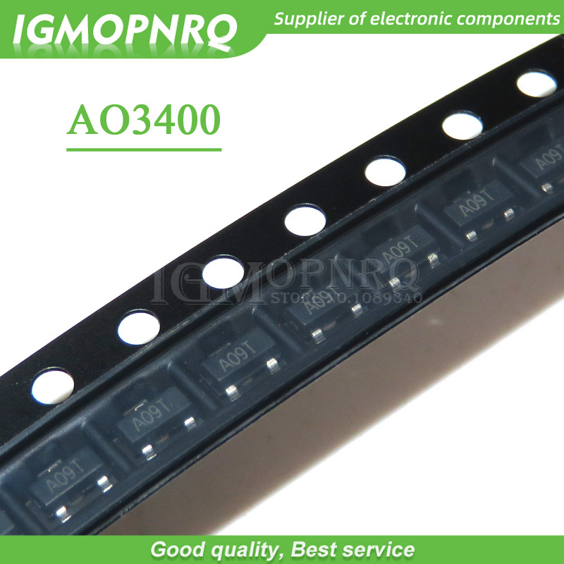 50pcs/lot AO3400A  N-Channel 30V 5.7A (Ta) 1.4W (Ta) SMD Mosfet Transistor SOT-23 Surface Mount SOT-23-3L AO3400 In Stock