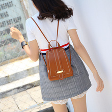Fashion trend backpack college style versatile Mini Backpack women's Bag Messenger carrying small schoolbag fashion trend casual lychee pattern backpack 2020 college suede small backpack single shoulder bag messenger handbag