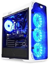 LC-Power Gaming 988W - Blue Typhoon Midi-Tower Blanco - Caja de ordenador (Midi-Tower, PC, Metal, Blanco, ATX,Micro ATX,