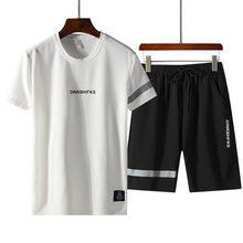 T-shirt + shorts 2019 summer mens fashion boutique campaign suits leisure t-shirts for men Polyester set
