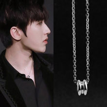 kpop Small stainless steel Necklace Friendship Gift Simple Round Circle Charm Choker Necklace Pendant Graduation Jewelry man(China)