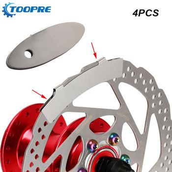 4 sztuk rowerowy hamulec tarczowy Pad narzędzie do regulacji montażu asystent MTB hamulec motocyklowy klocki Rotor wyrównanie narzędzia akcesoria do naprawy rowerów tanie i dobre opinie TOOPRE CN (pochodzenie) Linia ciągnięcie hamulec tarczowy 55 x 19mm 85*14mm Disc brake pad Two kinds Stainless steel