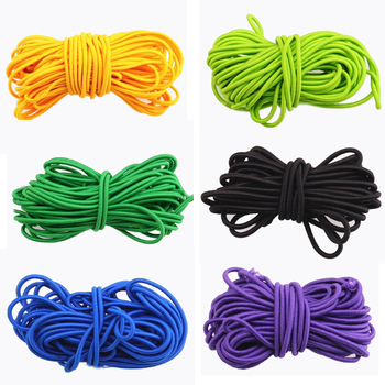 5m/lot 3mm Colorful High-Quality Round Elastic Band Rope Rubber Line DIY Sewing Accessories